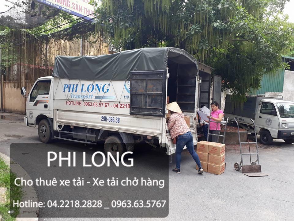 Phi Long cho thuê xe tải chuyển nhà giá rẻ tại phố Phương Mai