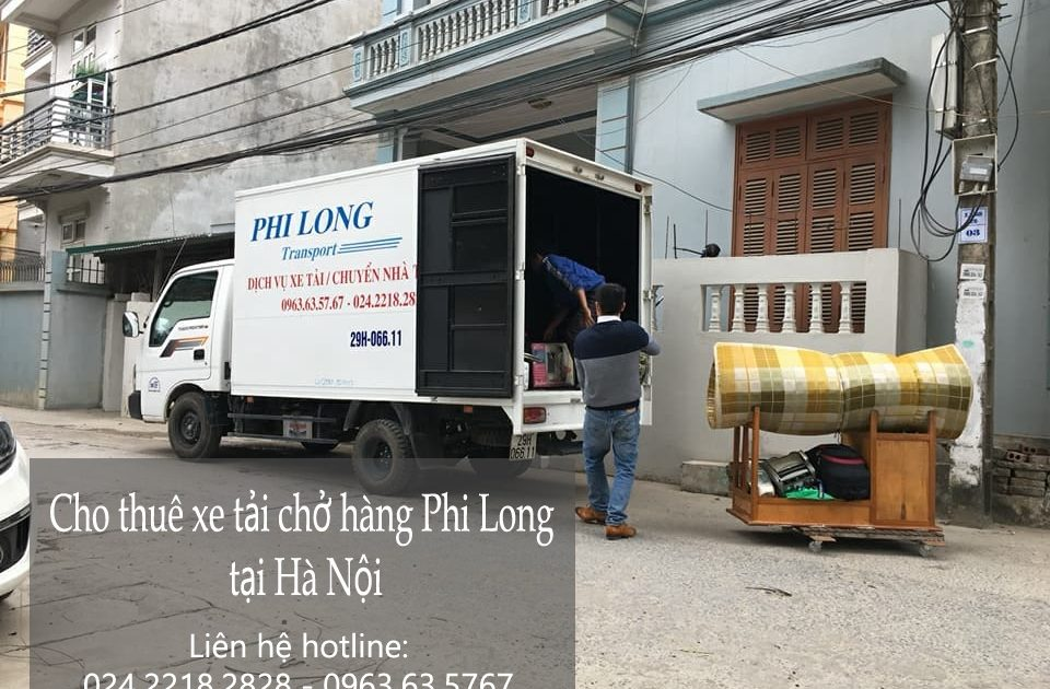 Cho thuê xe tải vận chuyển hàng hóa tại phố Hội Xá