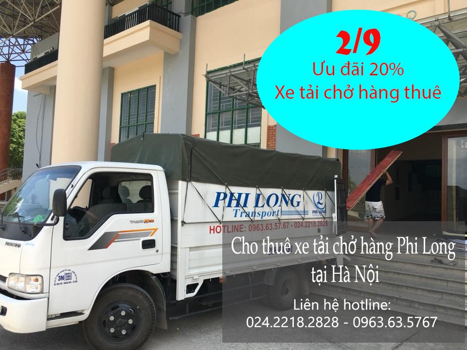 Cho thuê xe tải giá rẻ nhân ngày Quốc Khánh 2-9