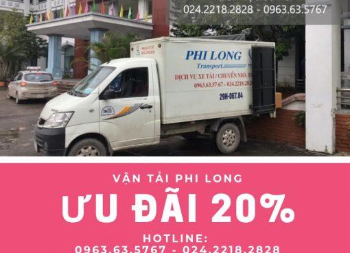 Cho thuê xe tải giá rẻ tại phố Phú Thượng