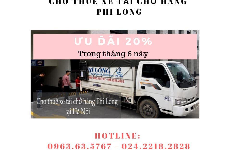 Dịch vụ cho thuê xe tải Phi Long tại phố Trưng Nhị