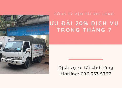 Dịch vụ cho thuê xe tải tại xã Nguyễn Trãi