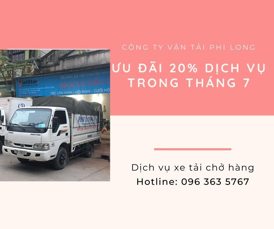 Dịch vụ cho thuê xe tải tại xã Nhị Khê