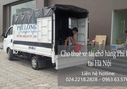 Dịch vụ cho thuê xe tải Phi Long tại đường Nhân Hòa.